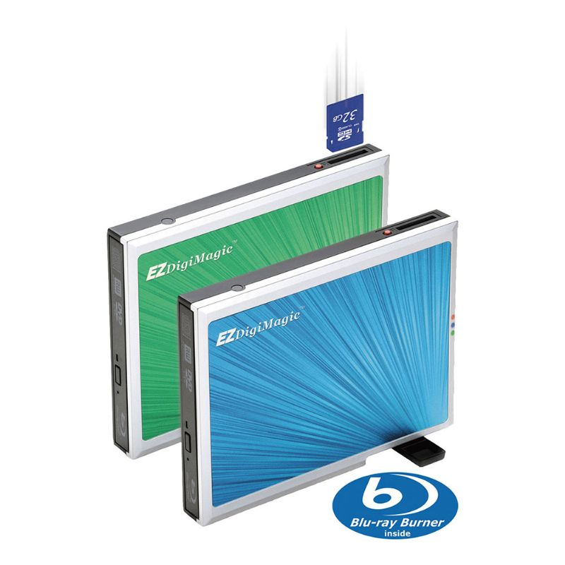 External Blu-Ray Drive with One-Key Backup Function