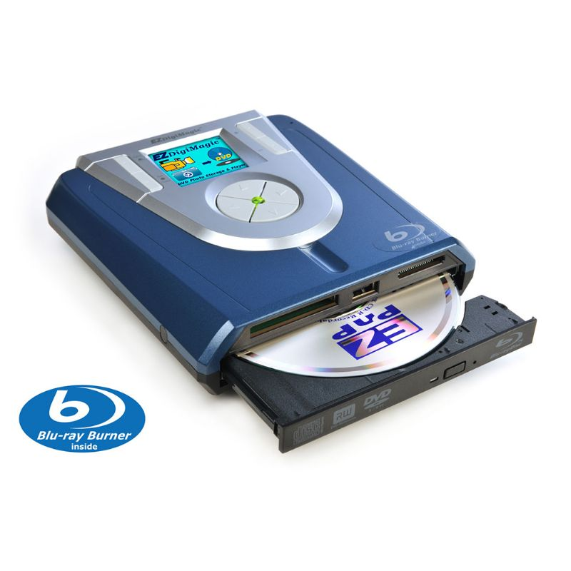 Battery-Powered Portable Disc Drive with No PC Needed